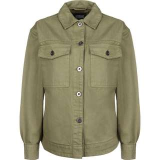 Urban Classics Oversized Shirt Windbreaker Damen oliv