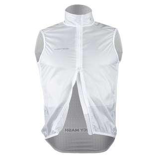 PERCY MASH Cannonball Windbreak Vest – White Fahrradweste white