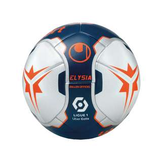 Uhlsport Elysia Ballon Officiel Spielball Fußball blausilberorange