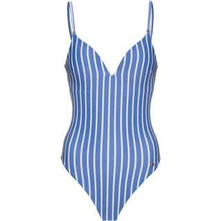 Tommy Hilfiger Badeanzug Damen hilfiger stripe wonder blue