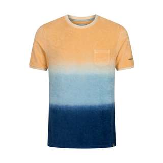 Colours & Sons T-Shirt T-Shirt Herren blau/orange