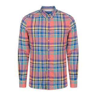 Colours & Sons Langarmhemd Langarmhemd Herren bunt