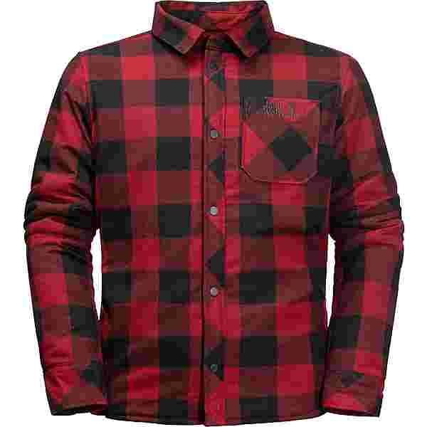 Jack Wolfskin WHITEVILLE Outdoorhemd Kinder dark lacquer red checks