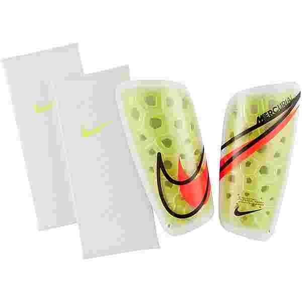 Nike Mercurial Schienbeinschoner volt-white-bright crimson