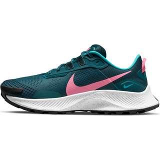 Nike Pegasus Trail 3 Laufschuhe Damen dark teal green-pink glow-armory navy