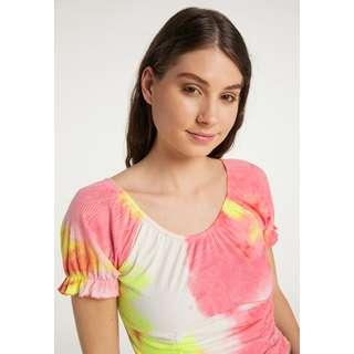 MYMO Printshirt Damen Orange Mehrfarbig