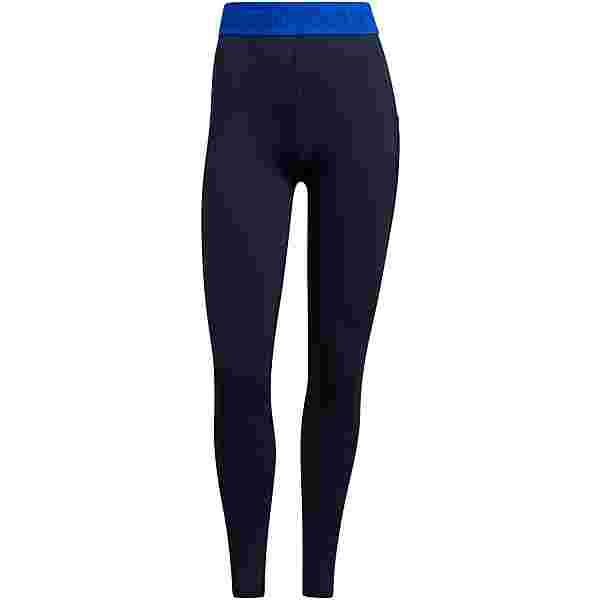 adidas 3 BAR TECH-FIT AEROREADY COMPRESSION Tights Damen legend ink-bold blue