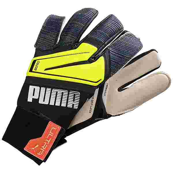 PUMA Ultra Grip 1 Hybrid Pro Torwarthandschuhe schwarz / neongelb