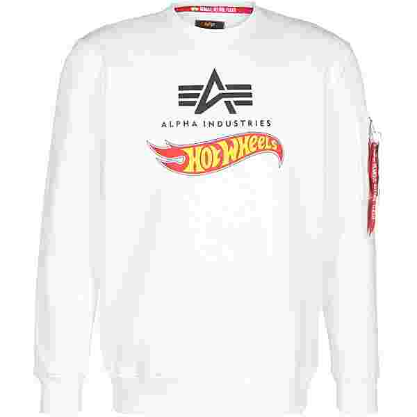 Alpha Industries X Hot Wheels Flag Sweatshirt weiß