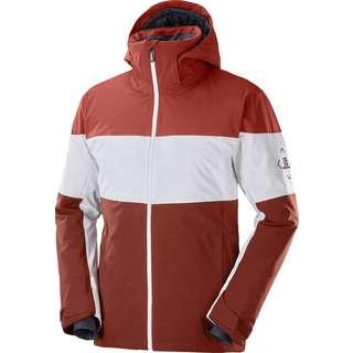 Salomon Slalom Skijacke Herren rum raisi-white-madder brown