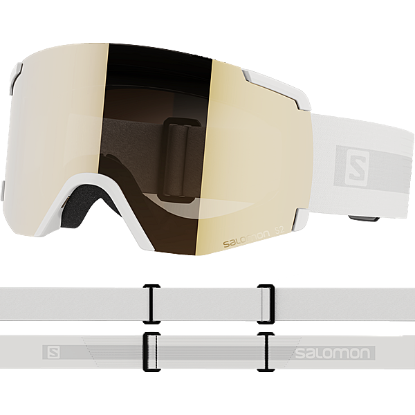 Salomon S/VIEW ACCESS White/Univ. Gold Skibrille white
