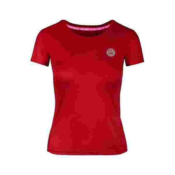 BIDI BADU Eve Tech Roundneck Tee Tennisshirt Damen rot