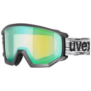Uvex athletic FM Skibrille black mat