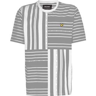 Lyle & Scott Glitch Print T-Shirt Herren weiß/grau