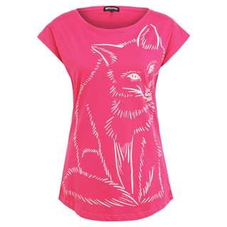 Mont Gele Gear Baumwoll-T-Shirt T-Shirt Damen rot/pink