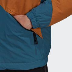 adidas Back to Sport Insulated Hooded Jacke Funktionsjacke Herren Blau