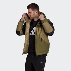 adidas Back to Sport Insulated Hooded Jacke Funktionsjacke Herren Grün
