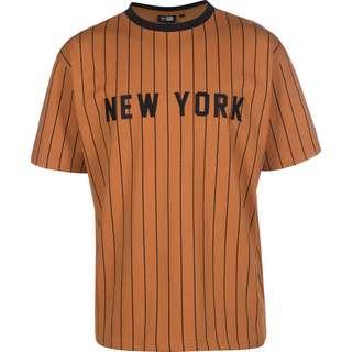New Era NY Oversized Pinstripe T-Shirt Herren braun/schwarz