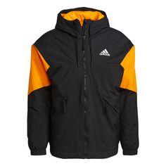 adidas Back to Sport Insulated Hooded Jacke Funktionsjacke Herren Schwarz