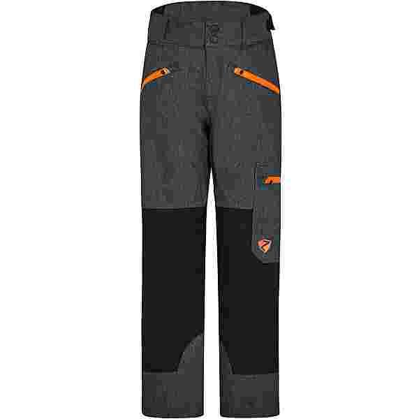 Ziener AMIRO Skihose Kinder gray ink jeans-neon orange