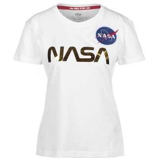 Alpha Industries NASA PM T-Shirt Damen weiß