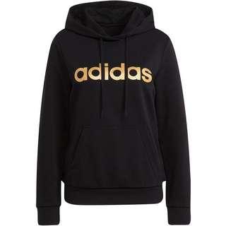 adidas LINEAR SPORT ESSENTIALS Hoodie Damen black-gold met.