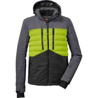KILLTEC Skijacke schwarz-frühlingsgrün-grau melange