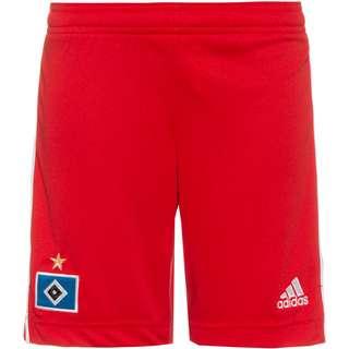adidas Hamburger SV 21-22 Heim Fußballshorts Kinder scarlet