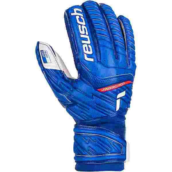 Reusch Attrakt Grip Finger Support Torwarthandschuhe deep blue-white