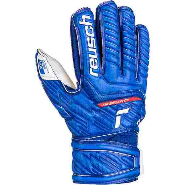Reusch Attrakt Solid Finger Support Junior Torwarthandschuhe Kinder deep blue-white