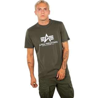 Alpha Industries Basic T-Shirt Herren oliv/weiß