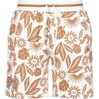 New Era NY Yankees Floral AOP Jeansshorts Herren weiß/braun