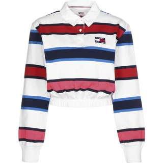 Tommy Hilfiger Striped Rugby Sweatshirt Damen weiß/gestreift