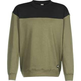 Urban Classics Upper Block Crewneck Sweatshirt Herren grün/braun