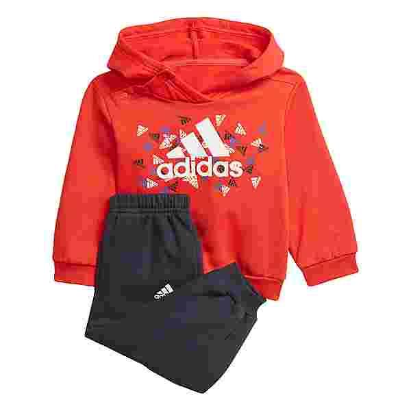 adidas Badge of Sport Graphic Jogginganzug Trainingsjacke Kinder Vivid Red / White