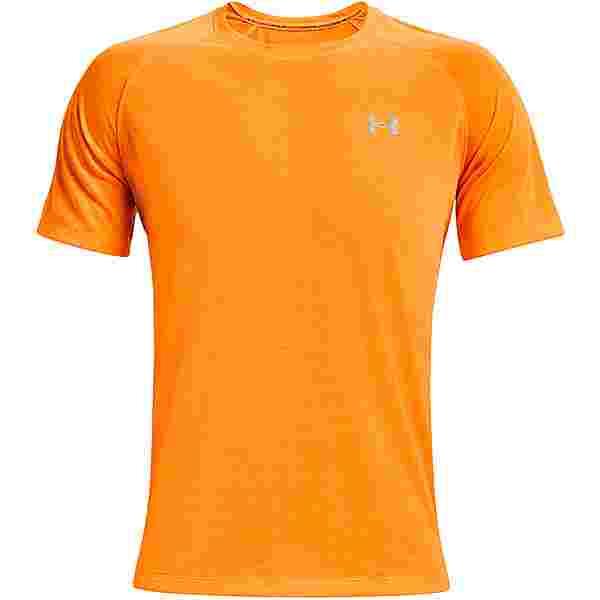 Under Armour Streaker Funktionsshirt Herren omega orange-omega orange-reflective