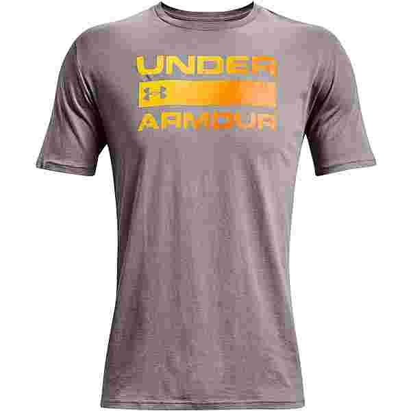 Under Armour Wordmark T-Shirt Herren concrete -omega orange