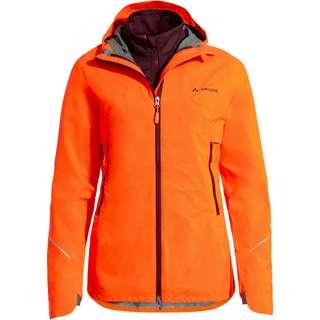 VAUDE Yaras 3in1 Fahrradjacke Damen neon orange
