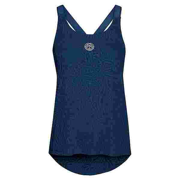 BIDI BADU Maila Burnout Tech Tank Tennisshirt Damen dunkelblau