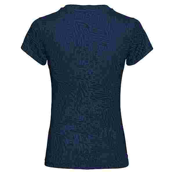 BIDI BADU Anni Burnout Tech Tee Tennisshirt Damen dunkelblau