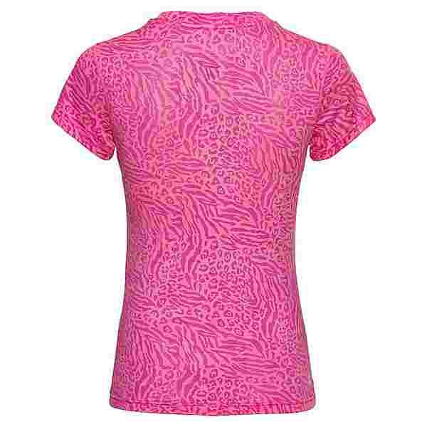 BIDI BADU Anni Burnout Tech Tee Tennisshirt Damen pink