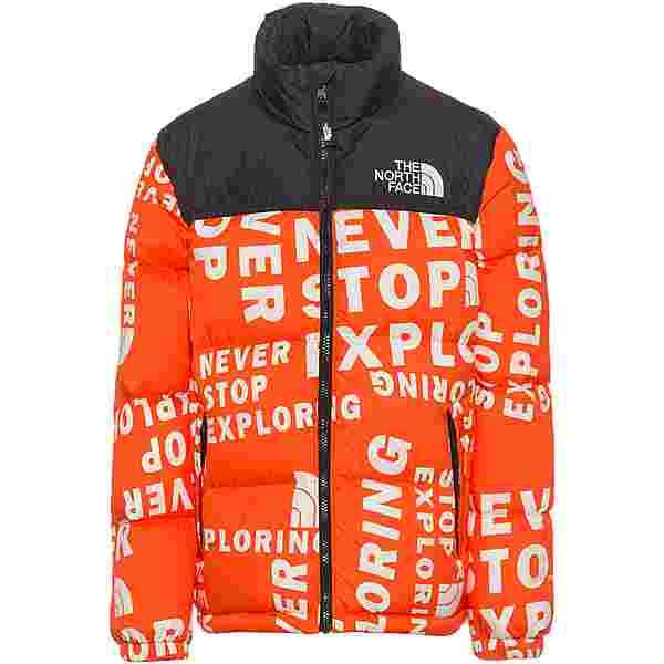 The North Face 1996 RETRO NUPTSE Daunenjacke Kinder red orange tagline toss print