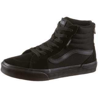 Vans FILMORE HIGH ZIP Sneaker Kinder suede canvas black-black