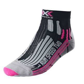 X-SOCKS Speed Two Laufsocken Damen black-fuchsia