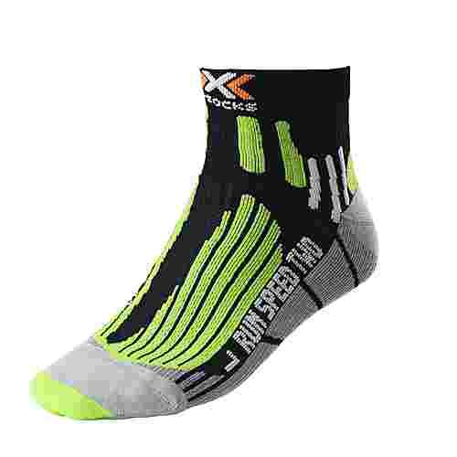 X-SOCKS Speed Two Laufsocken Herren black-green-lime