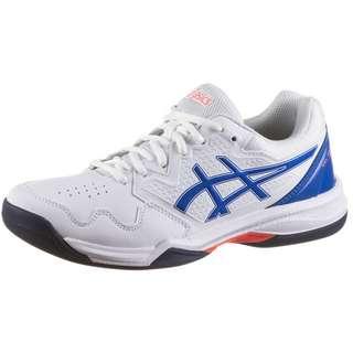 ASICS GEL-DEDICATE 7 INDOOR Tennisschuhe Damen white-lapis lazuli blue