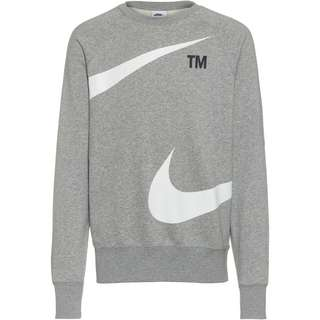 Nike NSW Swoosh Sweatshirt Herren dk grey heather-white