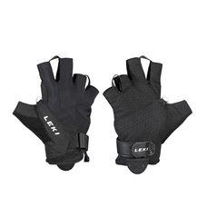 LEKI Summer Shark Short Nordic Walking Handschuhe schwarz/weiß