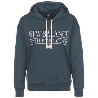NEW BALANCE Essentials Athletic Club Hoodie Damen grau / weiß