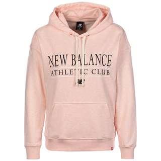 NEW BALANCE Essentials Athletic Club Hoodie Damen rosa / schwarz